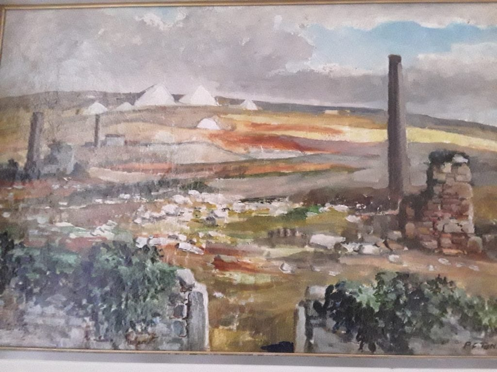 Cornish tin mine ruins and China  claytips from Bodmin Moor