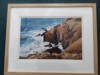 Bottalick Mine - Signed limited edition print by Nancy Bailey