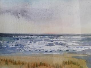 An original watercolour of Gwithian beach, Cornwall