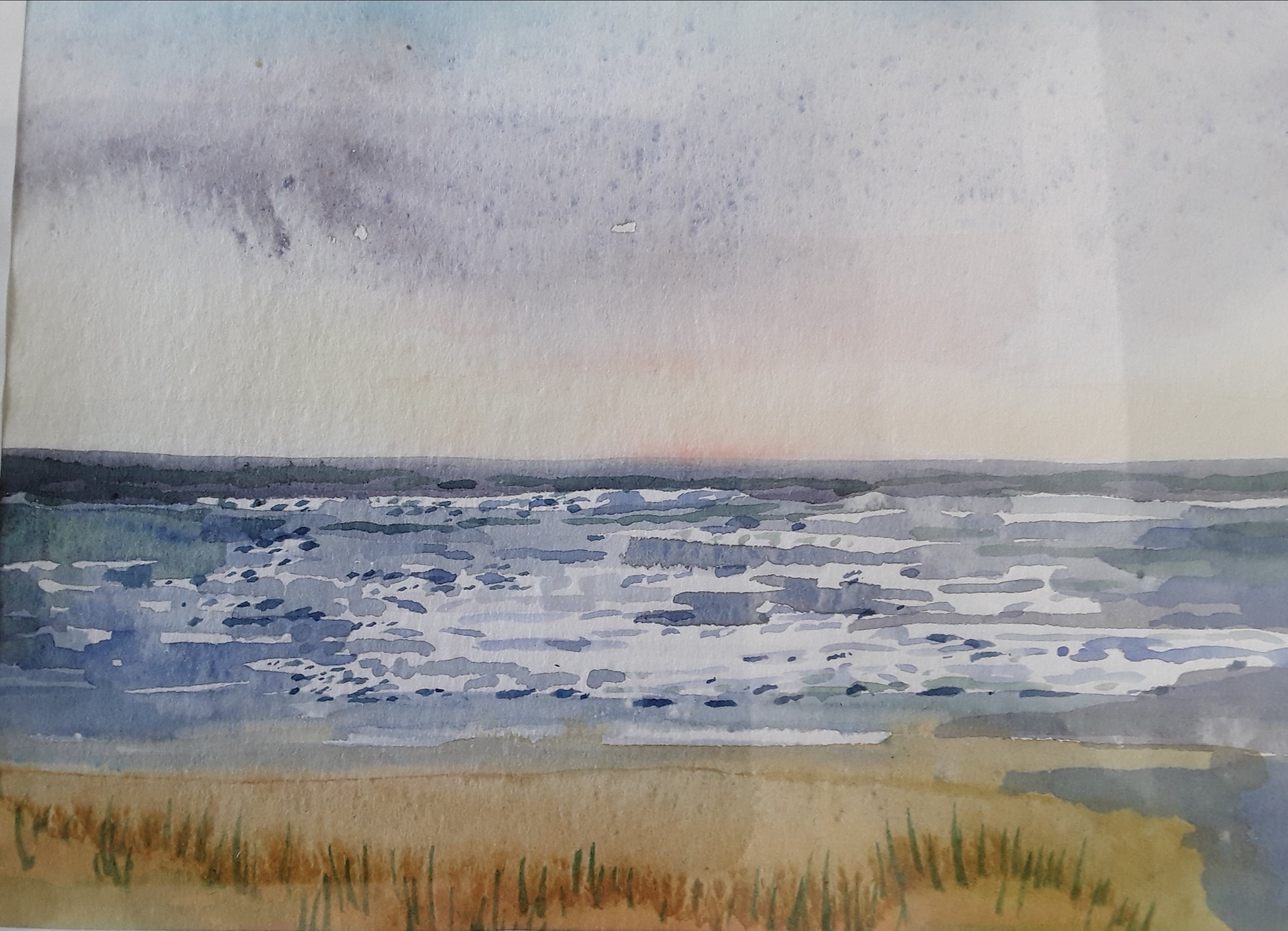 An original watercolour of Gwithian beach, Cornwall