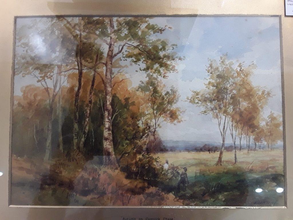 Autumn on Cannock Chase watercolour