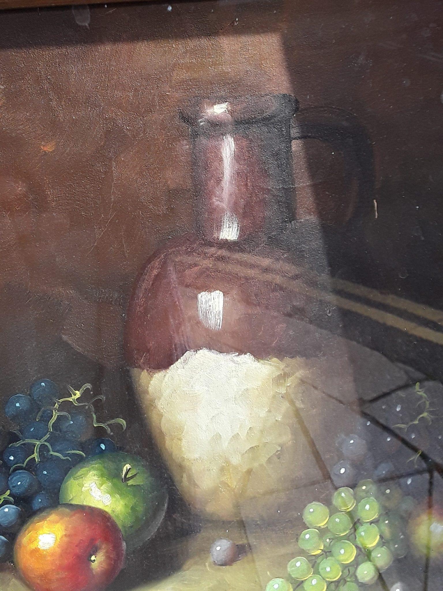 Still life featuring apples