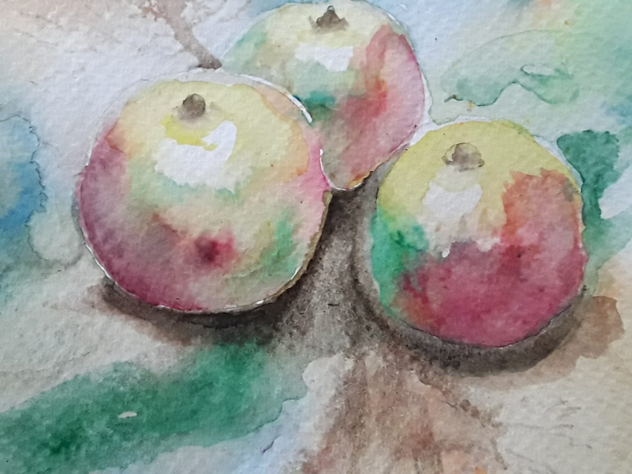 Watercolour of apples