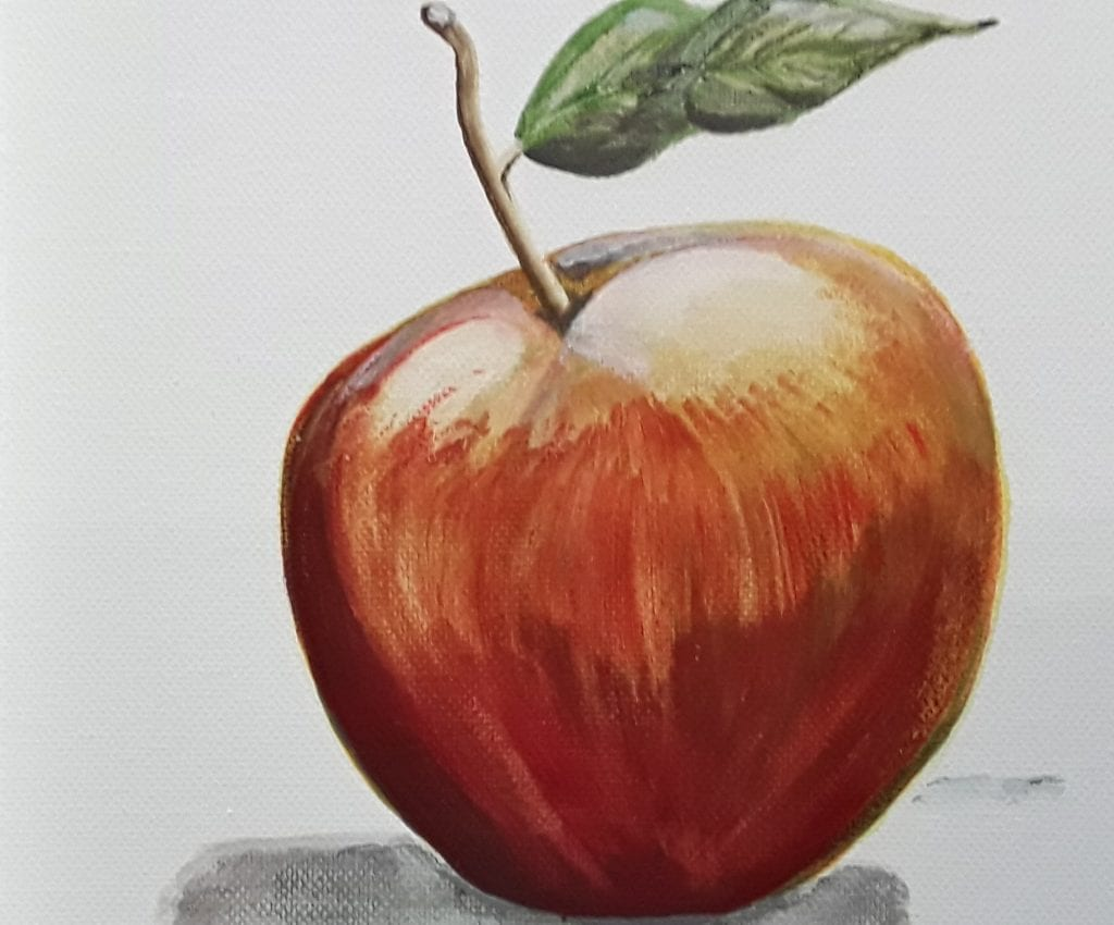 Acrylic apple painting